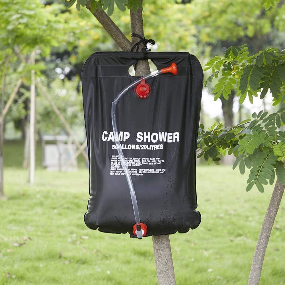 se puede guardar de forma f/ácil Ducha de camping dise/ño alem/án meinElement meinMonsun ducha m/óvil solar y bolsa exterior impermeable para refrescarse en viajes y festivales
