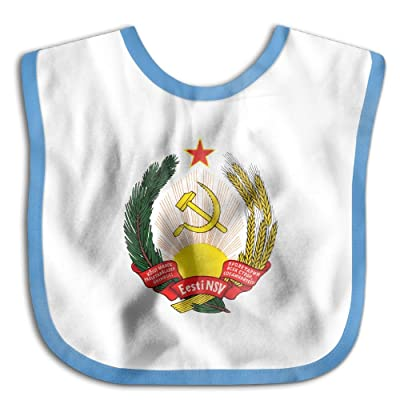 Marima Coat of Arms of Estonian Personalized Scarf Bib Feeding /& Teething Fancy Baby Bibs and Burp Cloth Polyester Cotton