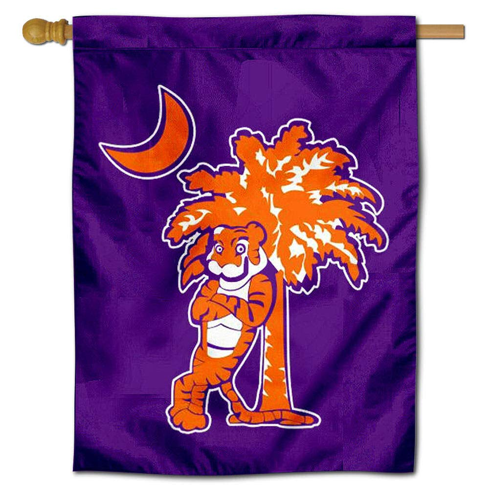 Clemson Palmetto Tree Double Sided House Flag College Flags and Banners Co