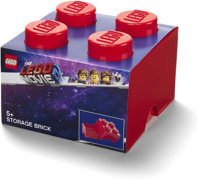 LEGO Brick 4 Storage Box One Size Movie 2, Red