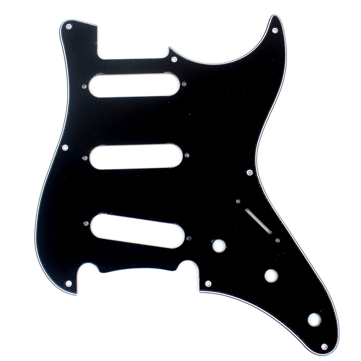 Replacement Guitar Pickguard For G&L SkyHawk,3ply Black
