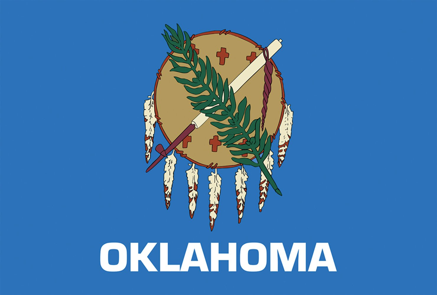 Toland Home Garden Oklahoma State Flag 12.5 x 18 Inch Decorative USA Garden Flag