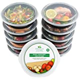 Premium Round BPA Free Meal Prep Containers. Reusable Plastic Food Containers with Lids. Stackable, Microwavable, Freezer & Dishwasher Safe Bento Lunch Box Set + EBook [680 mL]