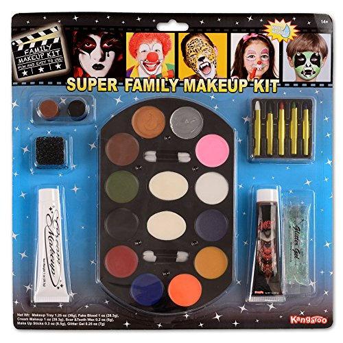 Cheap Stage Makeup (Super Jumbo Value Deluxe Family Makeup Kit; Halloween Makeup)