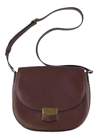 b04b626109 Image Unavailable. Image not available for. Color  CELINE Burgundy Smooth  Calfskin Leather Trotteur Shoulder Handbag