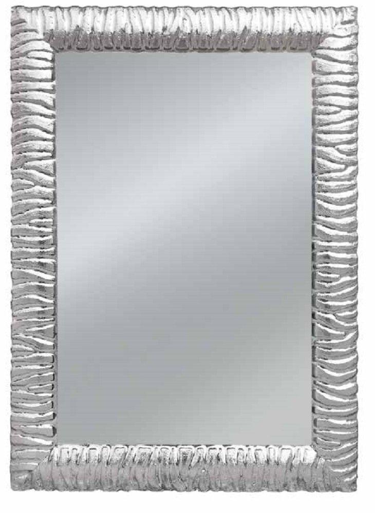 Specchio con cornice rettangolare colore argento, stile moderno, con ...