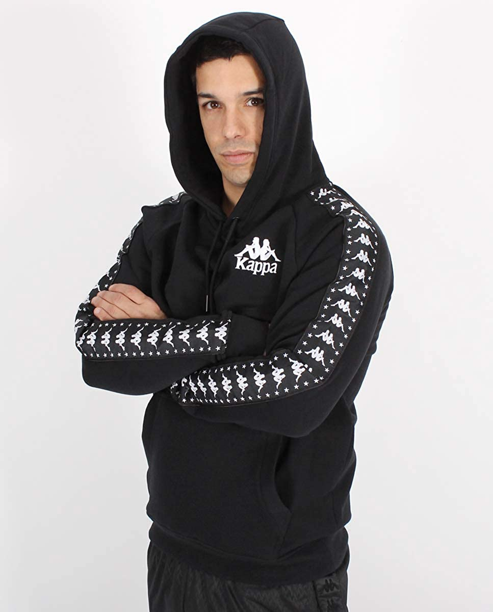 3469dcc9b3 Kappa Men's Authentic Porta Pullover Hoodie, Black, Large at Amazon ...