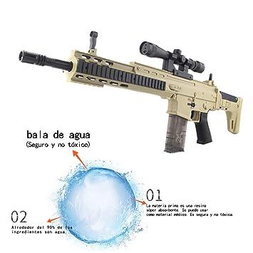 ShuaiMao 72 CM Arma de Bala de Agua-Arma Airsoft-Scar-L Rifle de Francotirador Modelo de Juguete -Juguetes de Réplica de Armas para Niños Adultos: ...