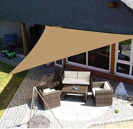 N/R Yeahmart 4x3m Refugio de Sol Grande Protección de sombrilla Toldo al Aire Libre Jardín Patio Sombrilla Vela Toldo de Camping Sombrilla Impermeable, Arena 3x3 m: Amazon.es: Hogar