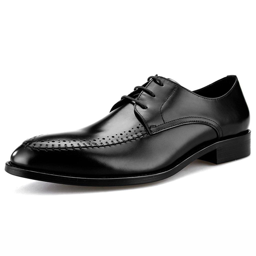 Zapatos Clásicos de Piel para Hombre Zapatos de cuero masculinos de los hombres Zapatos de negocios de los hombres del cordón de la ropa formal del desgaste del estilo británico ( Color : Negro , Tamaño : EU39/UK6 ) EU39/UK6|Ne