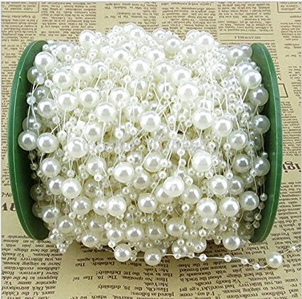 Amazon Com Saitec 200 Feet Roll Ivory Pearl String Party Garland
