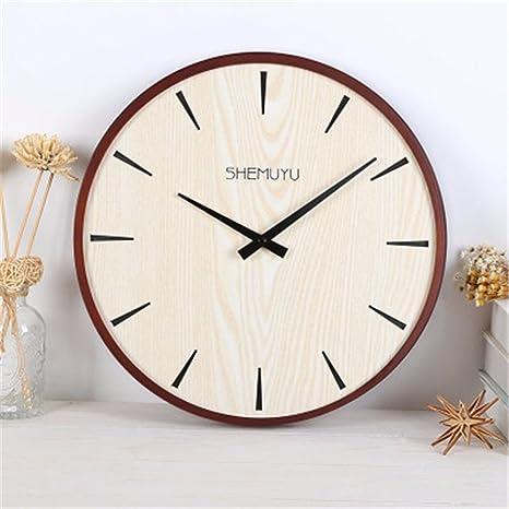 WERLM Diseño personalizado decorativos para el hogar reloj de pared Reloj de pared Reloj de arte mute salón ...