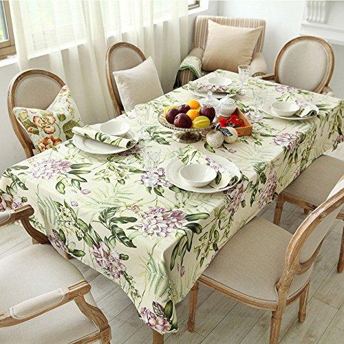 Tabgw Nappe rectangulaire salle à manger drap de coton couverture en tissu Garden Hotel Cafe Restaurant Accessoires pour la maison Style européen145X220cm
