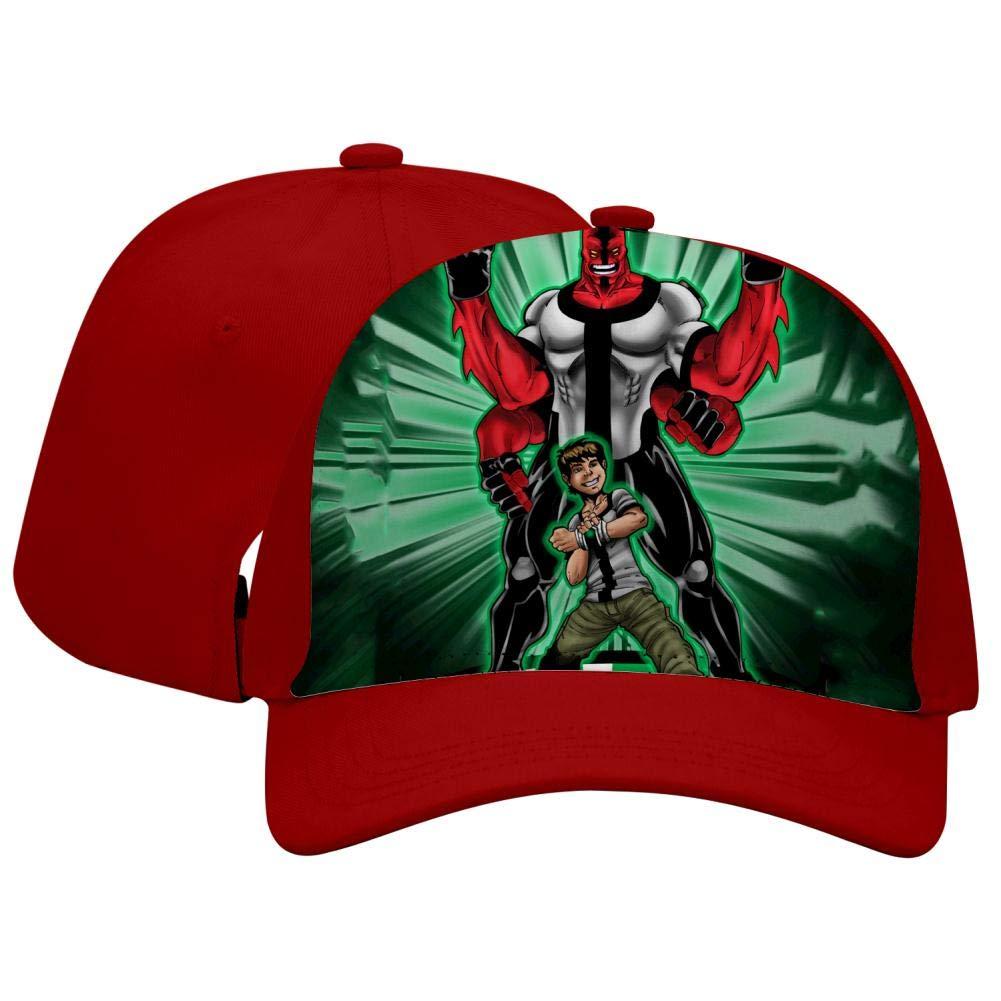 BEKAI Unisex Fantasy Ben-10 Hero Adjustable Brimbill Flats Hat for Mens//Womens Hip Hop Caps