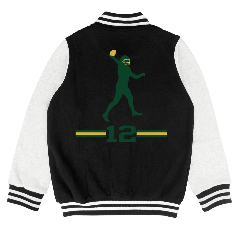 12 Aaron Charles Rodgers Kids Baseball Uniform Classic Baseball Jacket for 2-10 Y