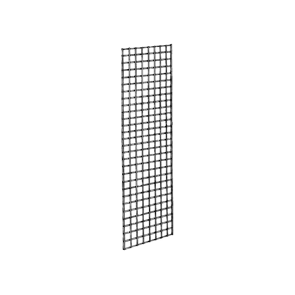 Grid Panel for Retail Display - Perfect Metal Grid for Any Retail Display, 2' Width x 6' Height, 3 Grids Per Carton (Black)