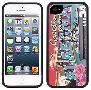 Alabama Postcard Handmade iPhone 5 Black Bumper Plastic Case