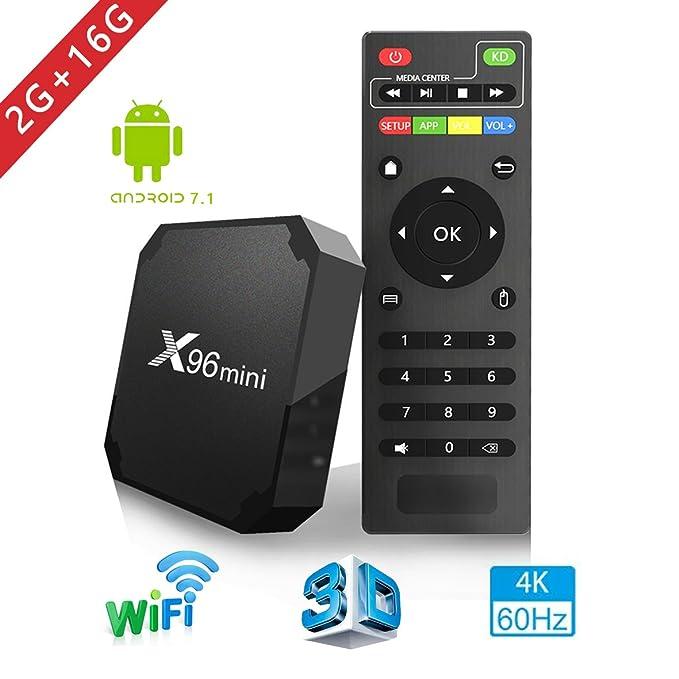 3 opinioni per Android TV Box- Smart TV Box con Quad Core X96MINI Android 7.1 TV Box Amlogic