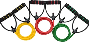 Dynapro Exercise Resistance Band Set with 3 Tension Levels