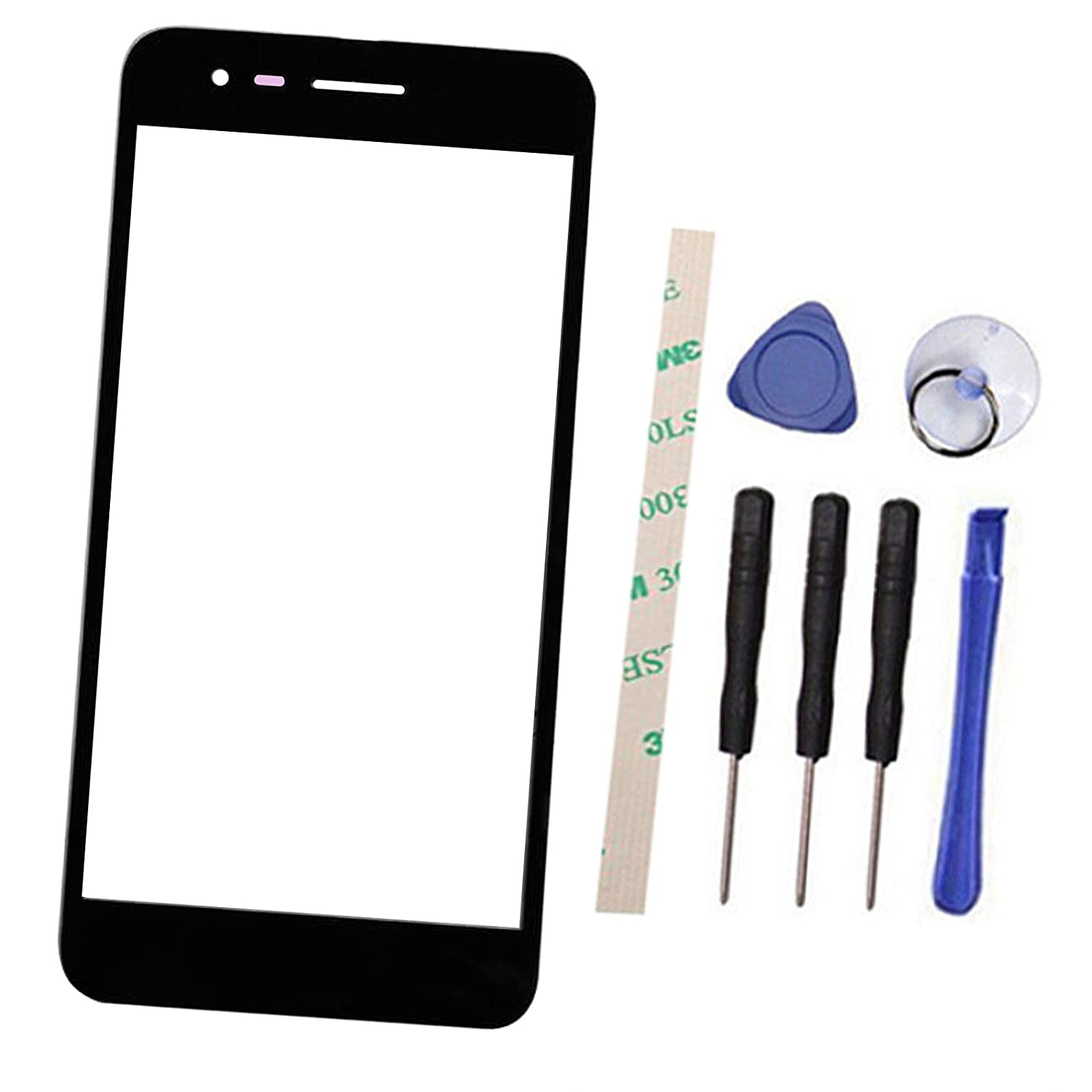 General Outer Screen Front Glass Lens Replacement for LG Fortune M153/K  Series K4 2017 M153/Phoenix 3 AT&T M150 M160 5 0