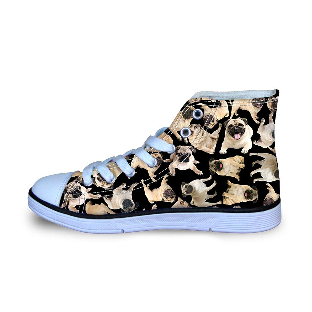 Stylish Cat Dog Printed Little Kids Toddler Casual High Top Sneakers Comfy Breathable