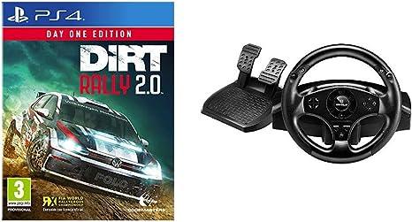 Codemasters - Dirt Rally 2.0 Day One Edition (PlayStation 4) + Thrustmaster T80 RW GT - Volante PS4/ PS3, Licencia Oficial Playstation: Amazon.es: Videojuegos