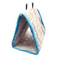 Fablcrew Hamac Nid Maison Suspendue en Tissu de Coton pour Oiseaux Hamsters Perroquets Perruches Size 22 * 14 * 18CM