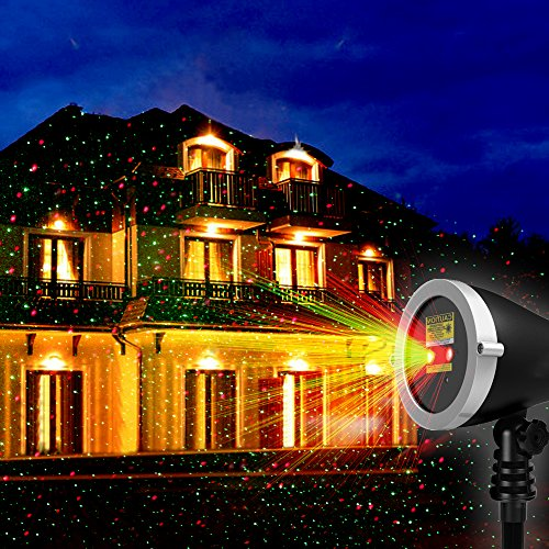 Landscape Lighting Near Me: 1byone Christmas Outdoor Laser Light Projector With