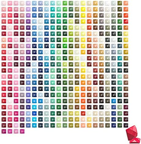 ARTDOT 445 Diamond Painting Square Drills Beads for Replacement Missing Diamonds, Freestyle Custom 5D Diamond Art Color Kits DIY Crafts Total 89,000 Pieces