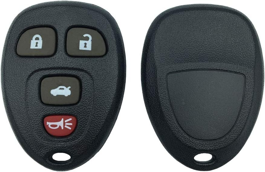 Replacement Keyless Entry Remote Case Shell and 3 Button Pad for Chrysler Jeep Dodge Plymouth Remote Key Fob