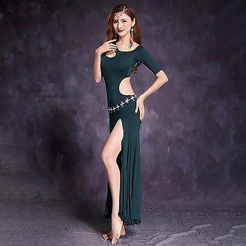 Xueyanwei Professional Women Belly Dance Dress Belly Dance Practice Dress Big Swing Skirt Indian Dance Performance