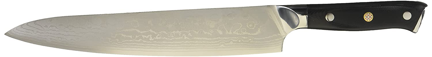 Bruntmor, Tokuso 9.5 Japanese VG10 Super Steel 67 Layer High Carbon Damascus Stainless Steel Razor Sharp, Premium Edge Retention, Stain & Corrosion Resistant, Gift Box Packaging BR3025