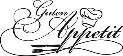 GRAZDesign 620562_30_070 Wandtattoo Küche Guten Appetit mit Kochmütze |  Wand-Worte für Esszimmer Restaurant und Küchen-Rückwände | Selbstklebende  ...