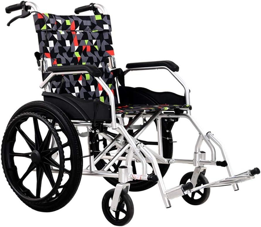 Teng Peng Transporte silla de ruedas, de aluminio de peso ligero-conducción silla de transporte médico con el brazo del tirón for el Easy Transfer, Anchura del asiento 17 Pulgadas sillas de ruedas ple