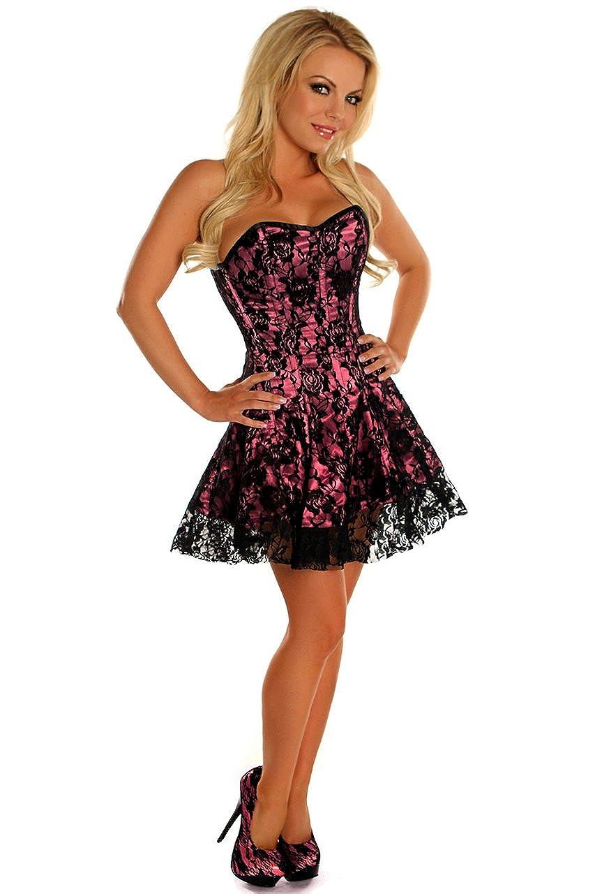 b0351d3e880 Amazon.com  Daisy corsets Lavish Pink Lace Corset Dress  Clothing