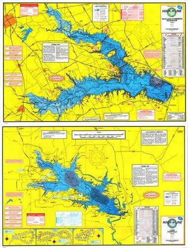 Richland Chambers Lake Fishing Map