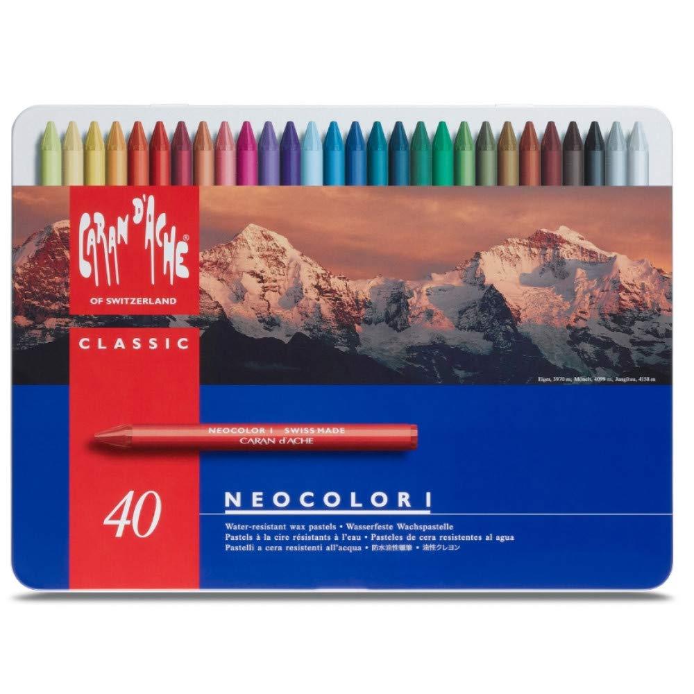 Caran dAche Neocolor Pastels (40 Colors) (7000.340) by Caran d'Ache
