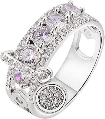 Slyq Jewelry Ladies Jewelry Big Vintage Bohemian Ring With cubic zirconia engagement rings fashion ring for women