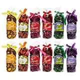 Set of 12 Potpourri Bags - Scented Potpourri, Potpourri for Bathroom, Fragrance Bag for Living Room, Office, Bedroom, Assorted Colors and Fragrances - 2.7 x 8 x 2.2 Inches