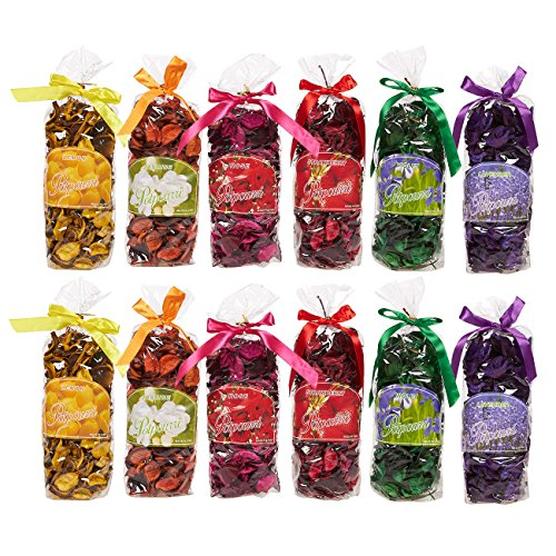 Chunky Satchel - Juvale Set of 12 Potpourri Bags - Scented Potpourri, Potpourri for Bathroom, Fragrance Bag for Living Room, Office, Bedroom, Assorted Colors and Fragrances - 2.7 x 8 x 2.2 Inches