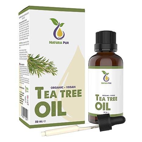 Natura Pur Aceite de Árbol de Té 50ml - 100% orgánico, puro y vegano