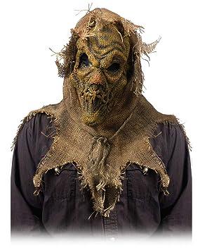Horror-Shop Espantapájaros Máscara demoníaca Beige