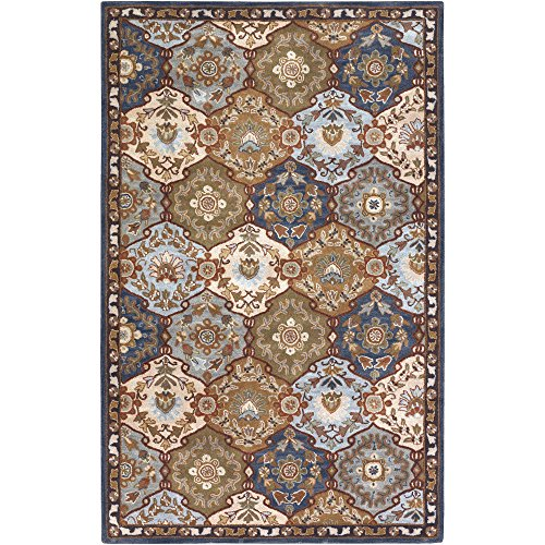 Surya CAE-1032 Caesar Blue 4-Feet Square Area Rug