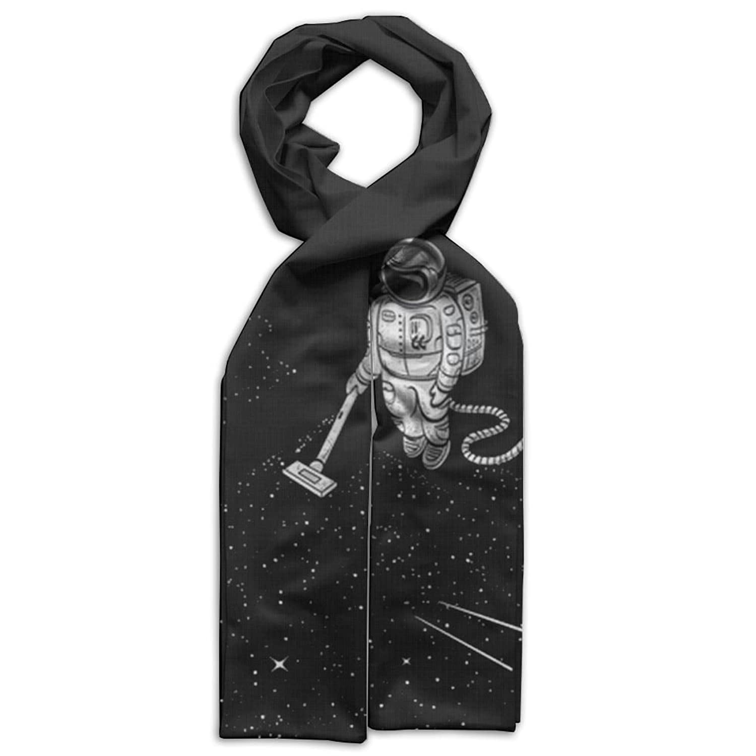 Astronauts Clean The Moon Scarves Popularized Soft Baby Girls Headcarf Lightweight Printed Scarf Fashion Scarf
