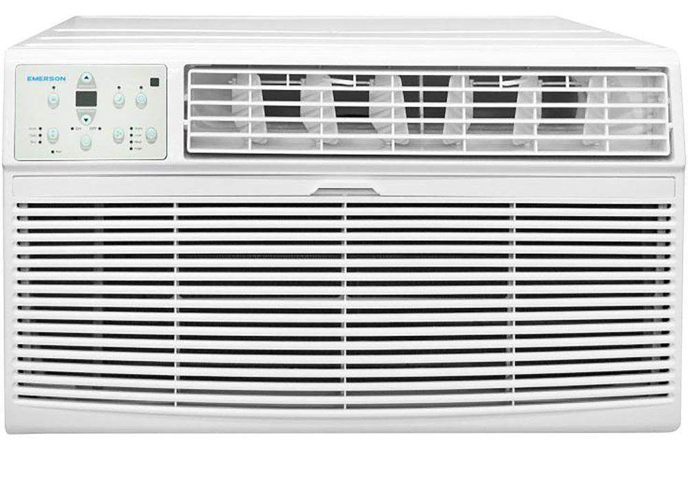 Emerson Quiet Kool EBTC12RE2-230V 12K Btu Through the Wall Air Conditioner with Remote Control, White