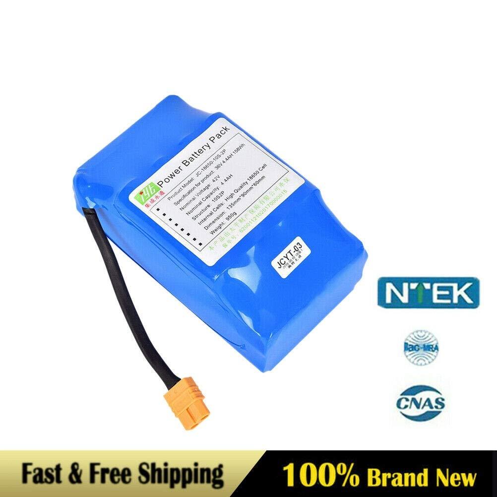 YiiYYaa New 36v 4.4Ah 10S2P INR18650P Li-Ion Battery for Balance Scooter Board USA [US Stock]