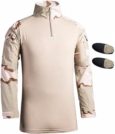 Hombres Airsoft Militar Táctico Camisa Largo Manga Delgado ...