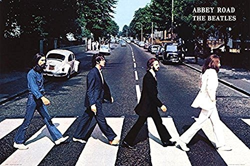 (Buyartforless The Beatles Abbey Road 1969 36x24 Music Art Poster Crossing The Street in England)