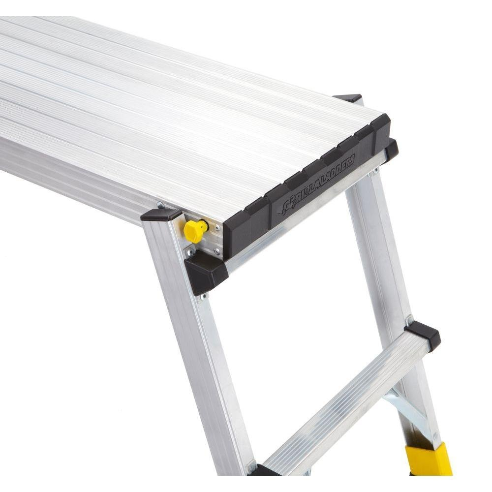 47.25'' x 12'' x 20'' Aluminum Slim-Fold Work Platform with 250 lb. Load Capacity by Gorilla Ladders (Image #8)