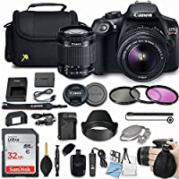 Canon EOS Rebel T6 18MP DSLR Camera Bundle with Canon EF-S 18-55mm f/3.5-5.6 IS II Lens + 32GB Sandisk Memory Card + Deluxe Camera Bag + 3 Pc Filter Kit + More Accessories
